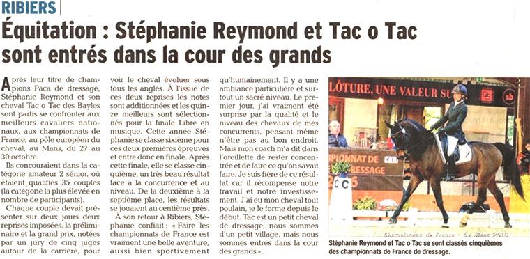 Article Stéphanie Reymond